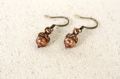Woodland Acorn Earrings - Nature Forest Jewelry | A Pocket of Whimsy