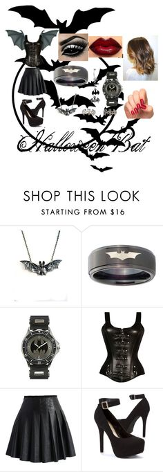 """Halloween-Bat"" by allicefaleta ❤ liked on Polyvore featuring moda e Chicwish"