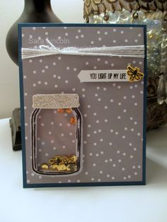 Mrs. Lincoln's Inkin: Light Up My Life Shaker using new Stampin' Up! products!! http://www.mrslincolnsinkin.com/2016/06/light-up-my-life-shaker.html