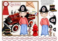 Fire Rescue 911 Card Topper Decoupage on Craftsuprint - Add To Basket!