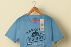 This is a classic psd T-shirt mockup with its wooden hanger to display your t-shirt designs with style. You can edit...