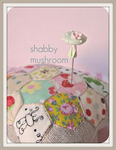 patchwork hexagon Pincushion