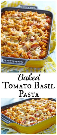 Baked Tomato Basil Pasta from LauraFuentes.com