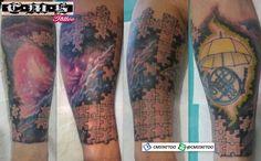 Tattoo 💉💉💉 no meu brother @victor_mouram Valewww por mais um desafio mano!!! TMJ 👊 Gostou❓👍 Chama no WhatsApp (11) 95798-4377. Puzzles and Nebula by Cícero Martins @cmstattoo #nebulatattoo #tattoo #tattooart #tatouage #tattoonobraço #tatuagemmasculina #tattoostyle #tattoodraw #tattoodesign #instalike #tattooing #tattoonebula #tattooartist #tatooarte #tatuagemnobraço #tatttoos #cmstattoo #tattoopuzzle #inksanustattoo #inktattoo #puzzletattoo #inkmaster #sketch #tatttoo #puzzle