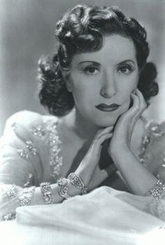 Gracie Allen, comedienne, radio personality, and partner and foil of husband, fellow comedian George Burns.