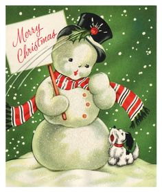 Vintage Christmas Card Artwork