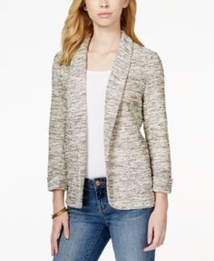 Maison Jules Knit Open-Front Blazer, Only at Macy's
