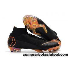 927b9e5e599f7 Rebajas Botas De Futbol Nike Niños Mercurial Superfly VI 360 Elite FG Negro  Naranja Blanco