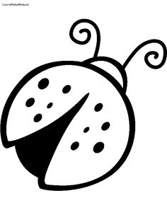 image result for coloring book picture of ladybug
