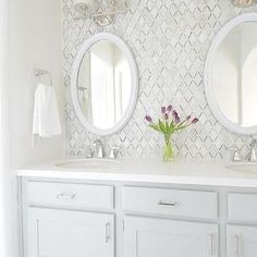 Gray Double Floating Bathroom Washstand with Crystal Accent Polished Nickel Bath Strip Lights