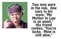 """It is """"National Mother In Law Day."""" Get your laugh on to these 15 funny mother-in-law quotes 🙂. Mother In Law Memes, Monster In Law, In Laws Humor, Personalized Photo Mugs, Funny Jokes, Hilarious, Funny Pins, Funny Stuff, Funny Shit"""