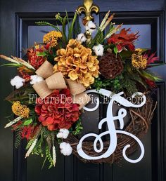 A personal favorite from my Etsy shop https://www.etsy.com/listing/240628820/seasonal-door-wreaths-fall-wreaths-front