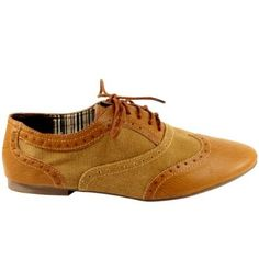 Womens Lace Up Oxford Brogue Shoes