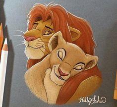 The Lion King - Disney - Simba Simba Et Nala, Roi Lion Simba, Le Roi Lion, King Simba, Disney Kunst, Arte Disney, Disney Art, Disney Pixar, Moda Disney