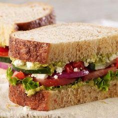 Panera Bread - Mediterranean Veggie Sandwich (note: has cilantro jalapeno hummus)