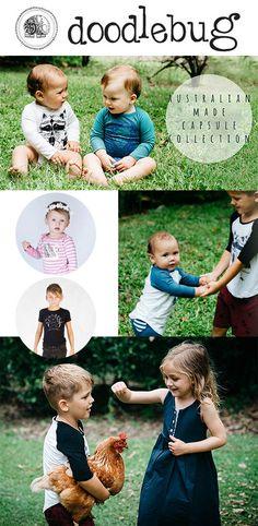 Established in2009, Australian designed and made Doodlebug baby and kids clothing - ilovedoodlebug.com.au - creates greatfashion without sacrificing the e