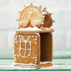 "Keep the children busy and entertained with easy-to-make ""gingerbread"" houses – good enough to admire and to eat White Icing, Gingerbread Houses, Kos, Christmas Cookies, Mini, Hands, Summer, Recipes, Xmas Cookies"