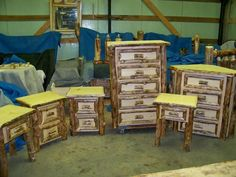 Aspen With Wred Fronts Osage Creek Log Furniture