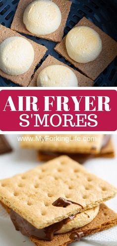 air fryer recipes You wont need a campfire to make these smores, all you need is an Air Fryer. Delicious roasted marshmallows roasted right in the Air Fryer in less than 10 minutes. Its the perfect easy dessert. Air Fryer Recipes Potatoes, Air Fryer Oven Recipes, Air Fryer Dinner Recipes, Air Fryer Baked Potato, Baked Potatoes, Marshmallows, Avocado Toast, Air Fryer Fish, Sauce Pizza