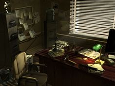 Detective's Office by johnvega3d.deviantart.com on @DeviantArt