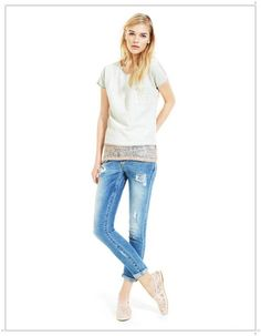 Spring Summer 2013 Womens Clothing [PHOTOS] Spring Summer 2013 clothing shirt and jeans with rips