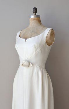 1960s dress / 60s wedding dress / Clair de Lune gown. $545.00, via Etsy.