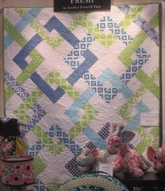 Seen at Houston Quilt Market, 2012.  Fabric is Fresh by Andover.