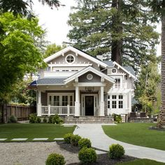 Look! A palm tree... Mill Valley Classic Cottage - traditional - exterior - san francisco - Heydt Designs