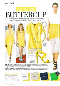 What to wear with..... buttercup