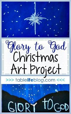 Inspired by Luke this Glory to God Christmas Art project is perfect for kids of any age. It's also an easy and fun way to make your own Christmas art. Christmas Art Projects, Easy Art Projects, Projects For Kids, Christmas Crafts, Christmas Time, Christmas Ideas, Christmas Pageant, Christmas Planning, Christian Christmas