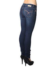 Loving this Dark Wash Kristine Stretch Straight-Leg Jeans - Women on #zulily! #zulilyfinds