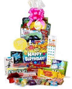 Birthday Celebration Retro Candy Basket