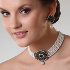Love the earrings, not so much the necklace.