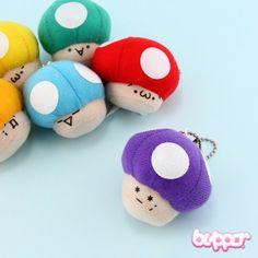 Mini Mushroom Plush Charm