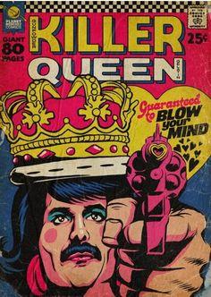 Freddie Mercury y sus himnos reconvertidos en portadas de comic vintage - Cultura Inquieta