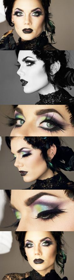 Linda Hallberg's Classy Black Widow Makeup....this reminds me of Maleficent from Sleeping Beauty