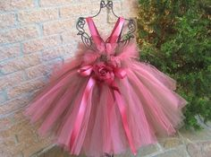 Tutu Dress, CHOCOLATE AND CORAL, Bit of Fluff, Babies,  3-24 Months | ElsaSieron - Clothing on ArtFire