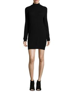 EQUIPMENT Oscar Long-Sleeve Cashmere Turtleneck Dress. #equipment #cloth #