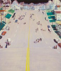 Passive Protest Painting // Jules de Balincourt // oil on panel