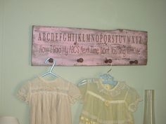 LITTLE GIRLS PEG RACK, ANTIGUE BARN WOOD