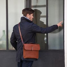 Bleu de Chauffe, leather laptop bag #mensbag #messenger #bag