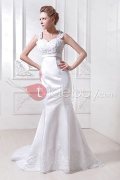 Glorious Trumpet/Mermaid Court Train Appliques Ela's Wedding Dress