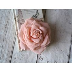 Bridal Flower Clip, Wedding Hair Rose, Blush Hair Accessory, Peach... ($33) ❤ liked on Polyvore featuring accessories, hair accessories, rose hair clip, bridal hair accessories, bride hair accessories, flower hair accessories and bridal flower hair accessories