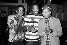 Q-Tip, Busta Rhymes And Pharrell. Photo by Terry Richardson.