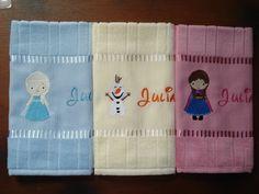 Kit toalhas bordadas - Frozen