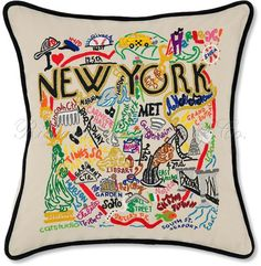 New York City Decorative Embroidered Pillow by Richard Rothstein on HomePortfolio