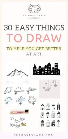 30 Cool & Easy Things to Draw to Get Better at Art Drawing Tips drawing for beginners Beginner Sketches, Drawing Tutorials For Beginners, Doodle Art For Beginners, Simple Drawings For Beginners, Beginner Art, Sketch Ideas For Beginners, Beginner Drawing, How To Draw Beginner, Simple Pictures To Draw