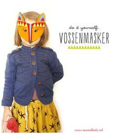 Maak je eigen vossenmasker!    Houden jouw kids ook zo van verkleedfeestjes en rollenspellen? We hebben weer een leuke DIY voor je; een (gratis) knipvel voor dit vossen masker. Je maakt hem van papier door middel van dit (gratis) knipvel óf je gebruikt het pat