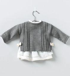 Modèle pull fantaisie bébé - Modèles Layette - Phildar