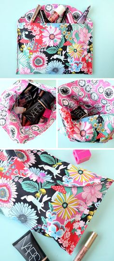 Giveaway + 20 Minute Makeup Bag Sewing Tutorial- Perfect For Teens, Tweens & Beginners